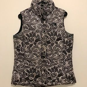 The North Face Black and White Down Vest